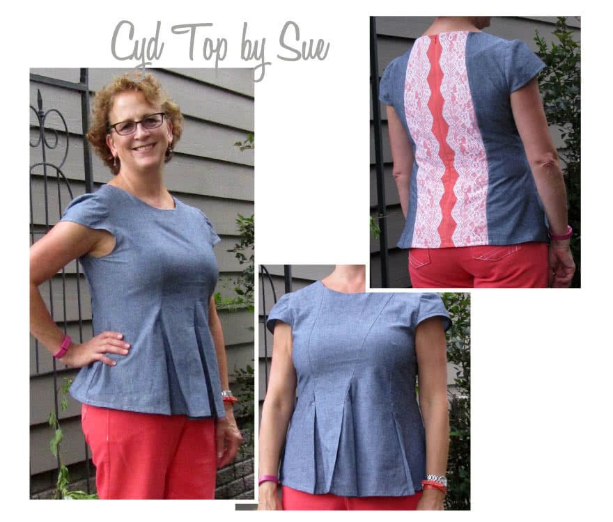 Cyd Top Sewing Pattern By Sue And Style Arc - Fabulous pleated peplum top