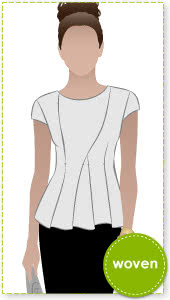 Cyd Top Sewing Pattern By Style Arc - Fabulous pleated peplum top