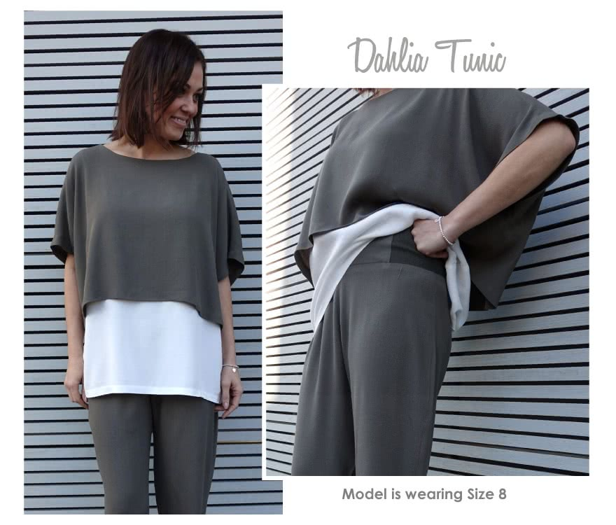 Dahlia Tunic Sewing Pattern By Style Arc - Fashionable double layer tunic