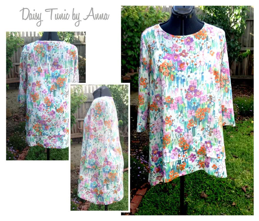 Daisy Designer Tunic Sewing Pattern By Anna And Style Arc - Interesting tunic top fabulous angled hems and side pockets
