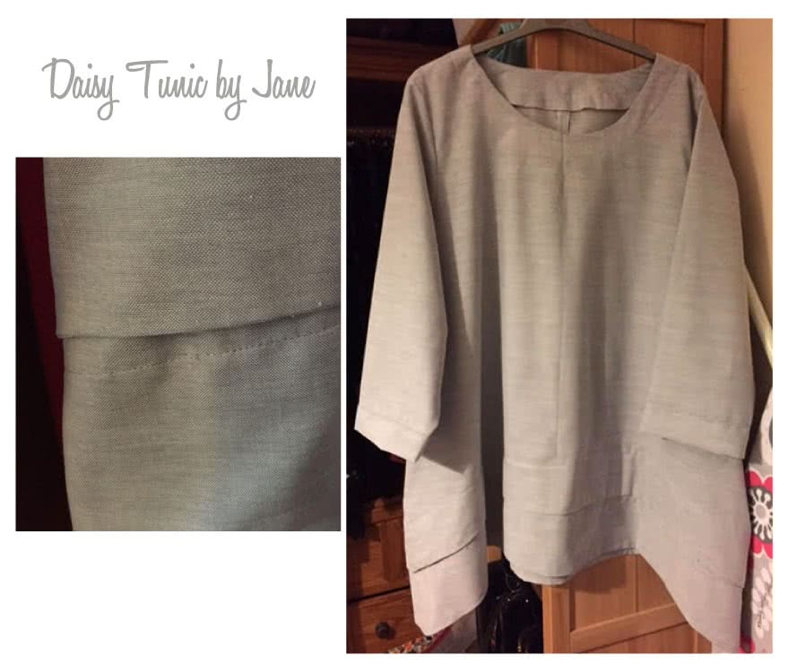 Daisy Designer Tunic Sewing Pattern By Jane And Style Arc - Interesting tunic top fabulous angled hems and side pockets