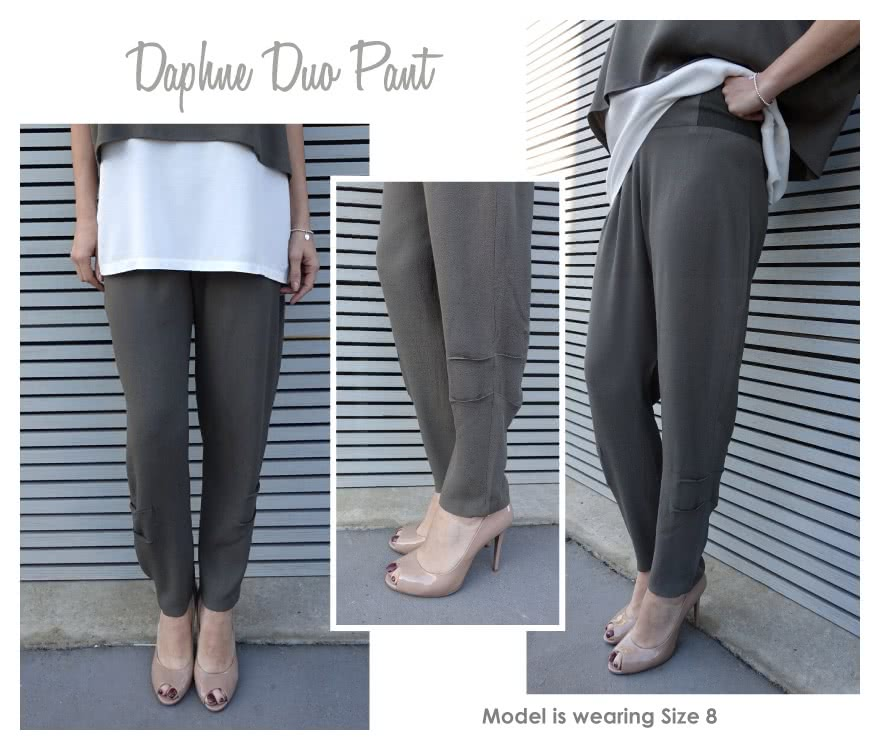 Daphne Duo Pant Sewing Pattern By Style Arc - Pull on pant with interesting side seam detail