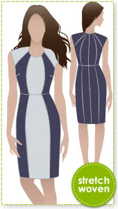 Darla Stretch Woven Dress Sewing Pattern By Style Arc - A dress that you can use you creative skills to make it your own.