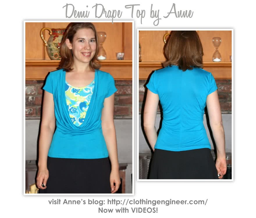 Demi Drape Top Sewing Pattern By Anne And Style Arc - Knit jersey cowl neck top