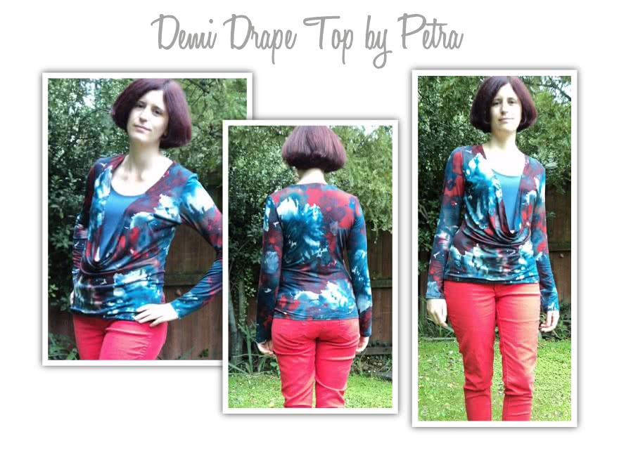 Demi Drape Top Sewing Pattern By Petra And Style Arc - Knit jersey cowl neck top