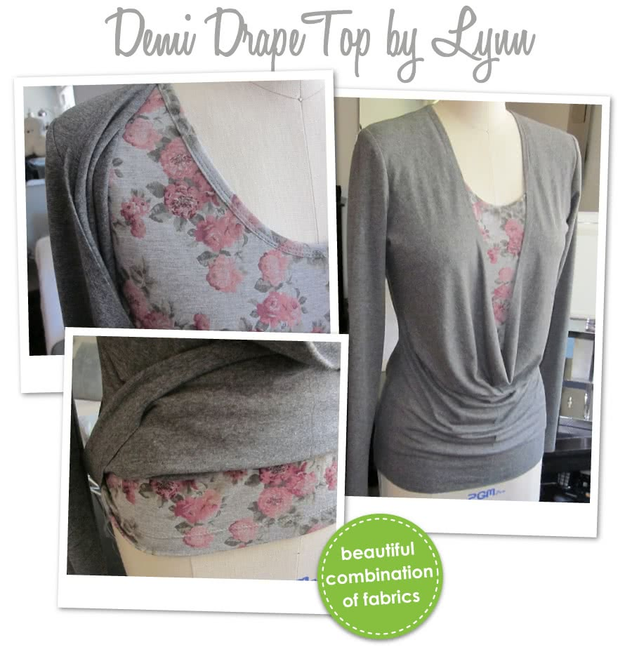 Demi Drape Top Sewing Pattern By Lynn And Style Arc - Knit jersey cowl neck top