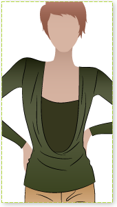 Demi Drape Top Sewing Pattern By Style Arc - Knit jersey cowl neck top