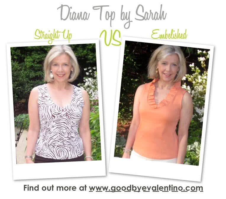 Diana Top Sewing Pattern By Sarah And Style Arc - Attractive neckline slightly fitted top