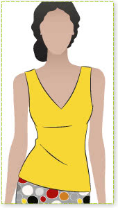 Diana Top Sewing Pattern By Style Arc - Attractive neckline slightly fitted top