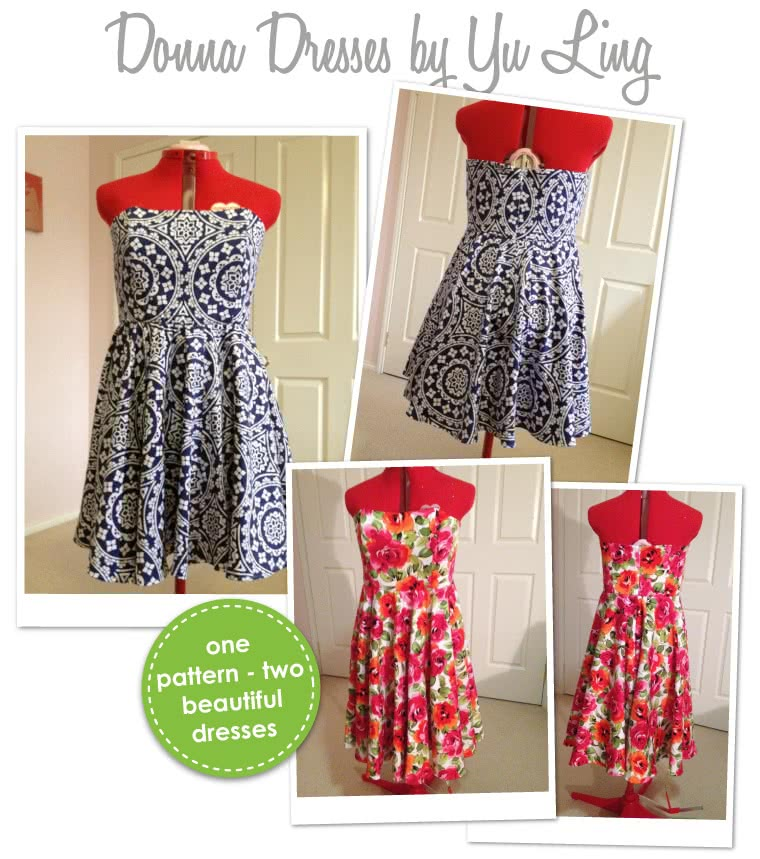Donna Dress Sewing Pattern By Yu And Style Arc - A versatile dress suitable for many occasions
