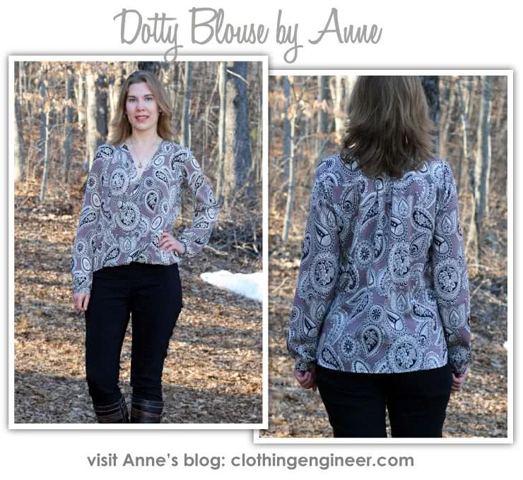 Dotty Blouse Sewing Pattern By Style Arc - A new twist on the wrap top, this is a very flattering and easy to wear top