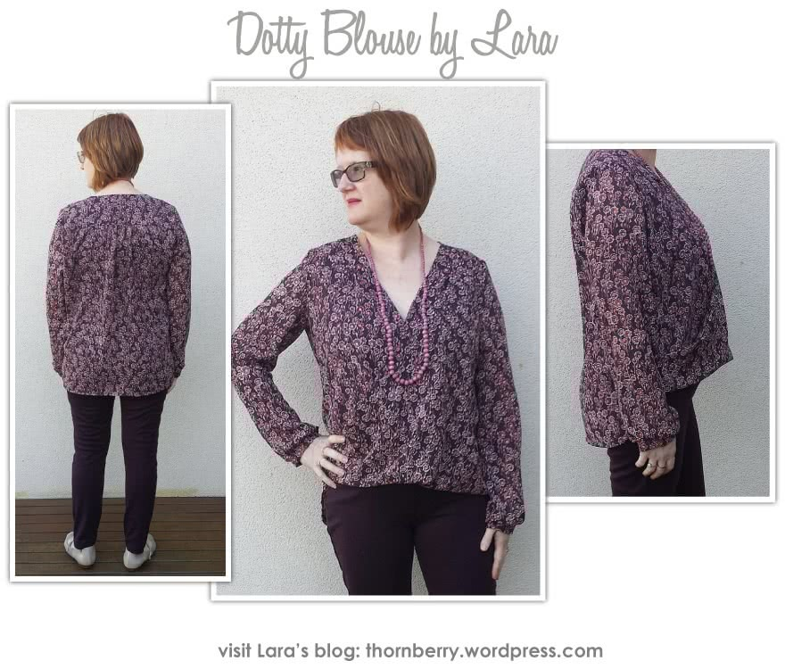 Dotty Blouse Sewing Pattern By Lara And Style Arc - A new twist on the wrap top, this is a very flattering and easy to wear top