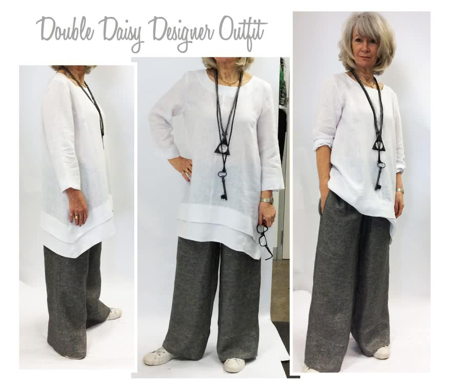 Double Daisy Tunic + Pant Outfit Sewing Pattern Bundle By Style Arc