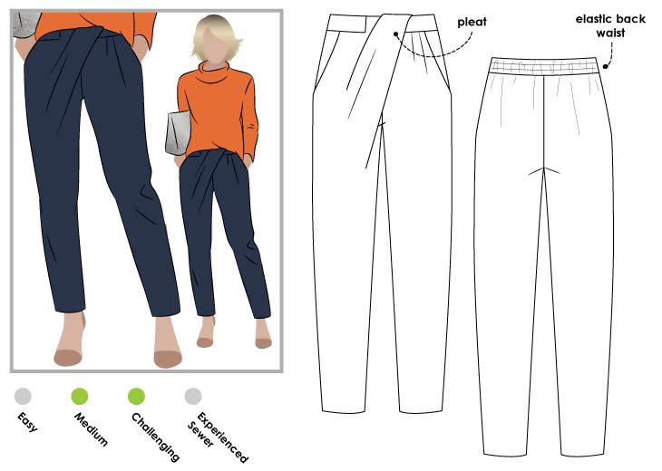 Ebony Woven Pant – Style Arc