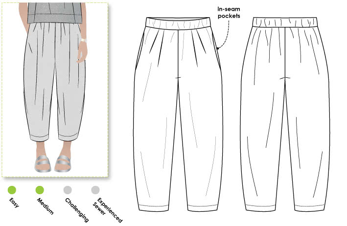 Ethel Designer Pant Style Arc Adorable Pants Sewing Pattern