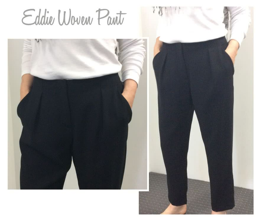 Eddie Woven Pants Sewing Pattern By Style Arc - New ankle grazer pleat front pant