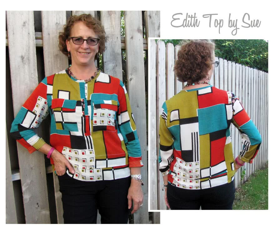Edith Top Sewing Pattern By Sue And Style Arc - Versatile top with a clever layered look