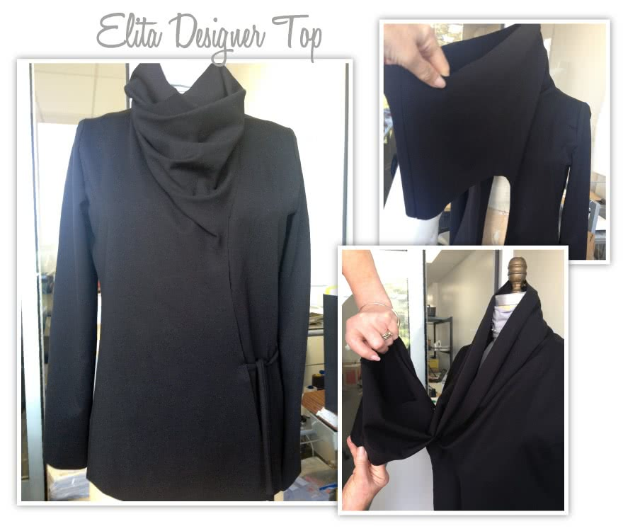 Elita Designer Top Sewing Pattern By Style Arc - Designer top with unique twist neck