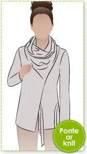 Elita Designer Top Sewing Pattern By Style Arc - Designer top with unique twist neck