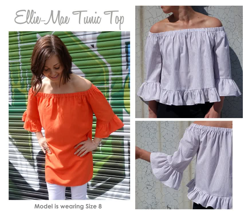 Ellie-Mae Tunic Top Sewing Pattern By Style Arc
