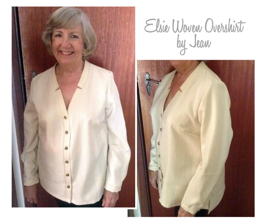 """Elsie Woven Overshirt Sewing Pattern By Jean And Style Arc - Fabulous over shirt with the fashionable """"reverse revere"""""""