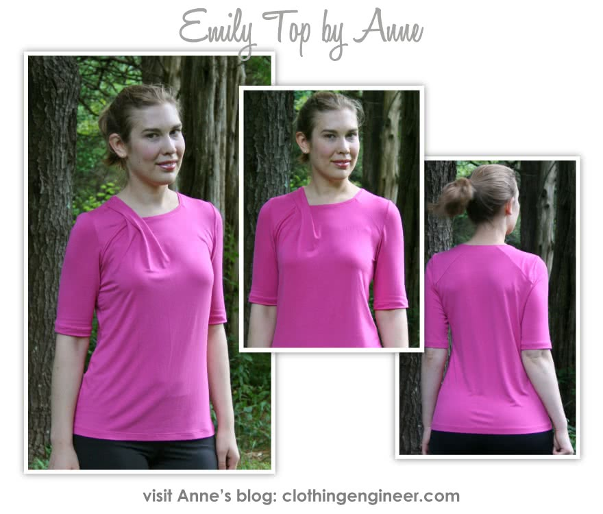 Emily Knit Top Sewing Pattern By Anne And Style Arc - Knit top with a twist pleat neckline