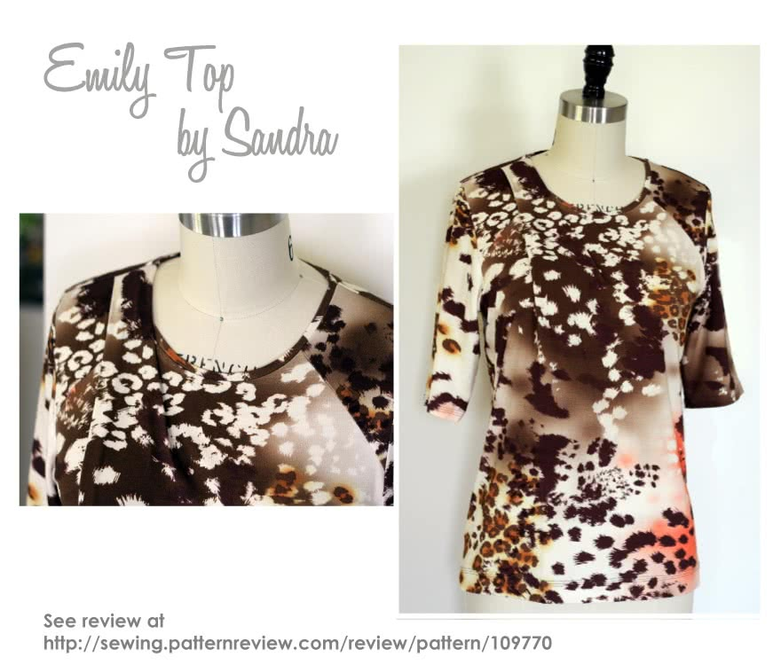 Emily Knit Top Sewing Pattern By Sandra And Style Arc - Knit top with a twist pleat neckline