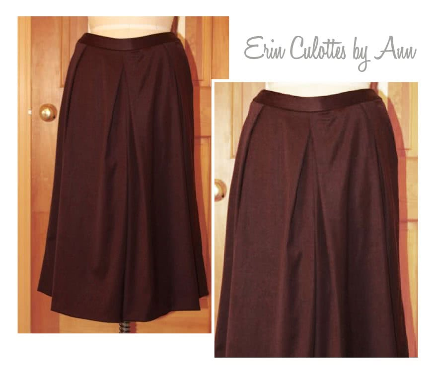 Erin Woven Culottes Sewing Pattern By Ann And Style Arc - Pleat front culottes with angled pockets
