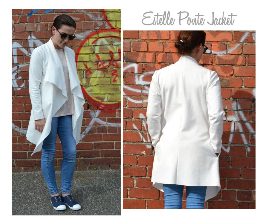 Estelle Ponte Jacket Sewing Pattern By Style Arc