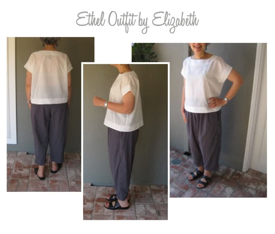 Ethel Top + Pant Outfit Sewing Pattern Bundle By Elizabeth And Style Arc