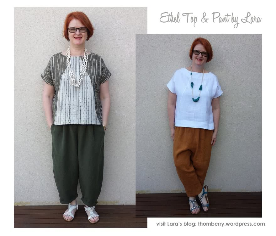 Ethel Top + Pant Outfit Sewing Pattern Bundle By Lara And Style Arc