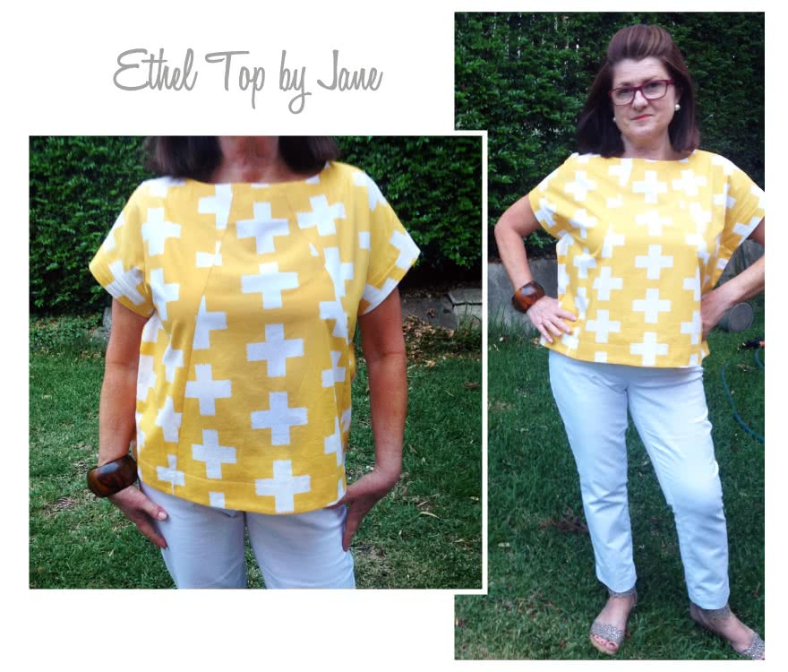 Ethel Designer Top Sewing Pattern By Jane And Style Arc - New square shaped designer top