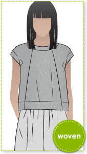 Ethel Designer Top Sewing Pattern By Style Arc - New square shaped designer top