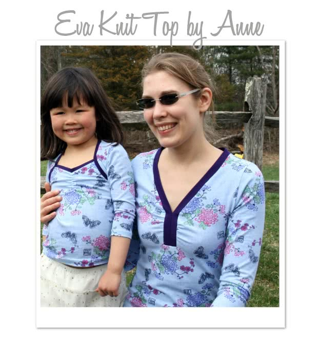 Eva Knit Top Sewing Pattern By Anne And Style Arc - Great knit top with flattering neckline