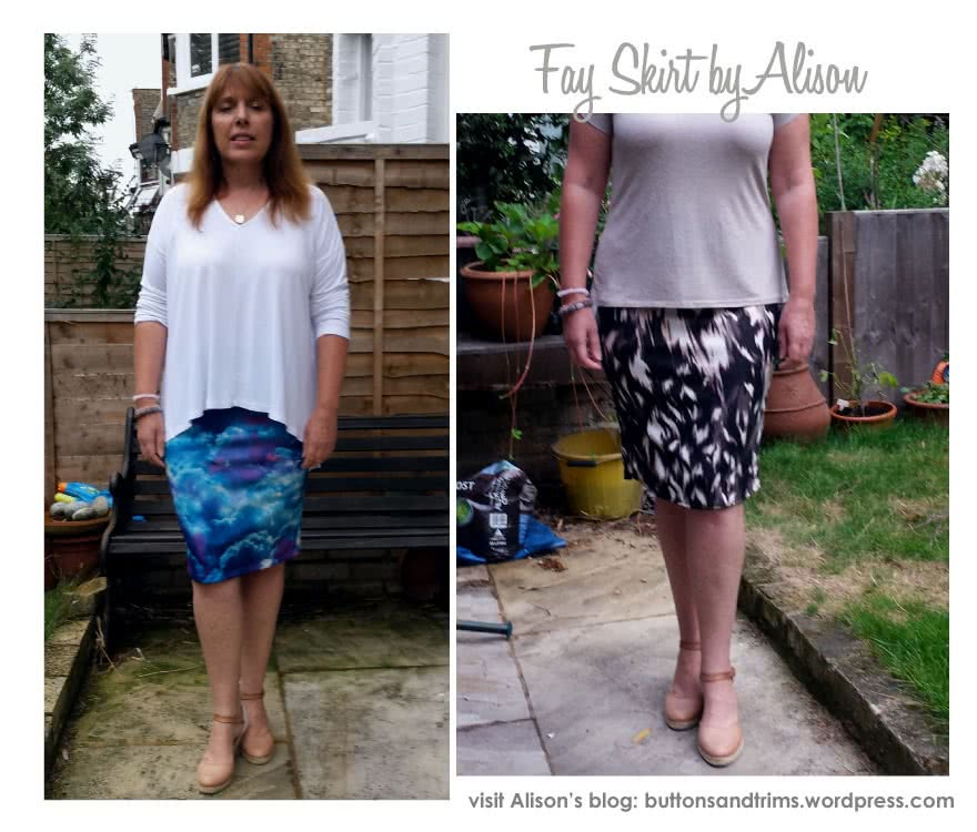 Fay Skirt Sewing Pattern By Alison And Style Arc - Figure hugging pull-on one piece skirt