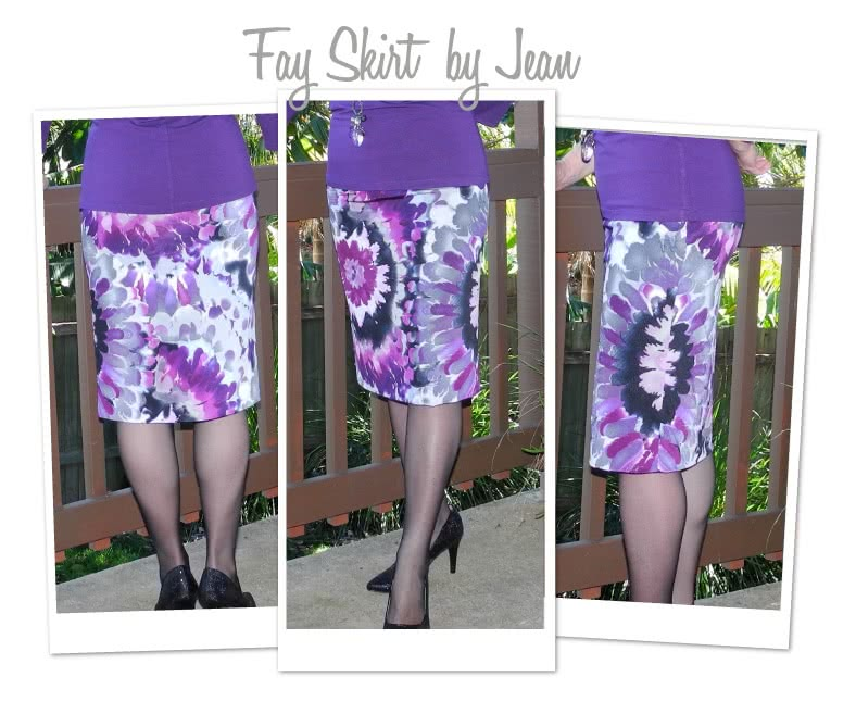 Fay Skirt Sewing Pattern By Jean And Style Arc - Figure hugging pull-on one piece skirt