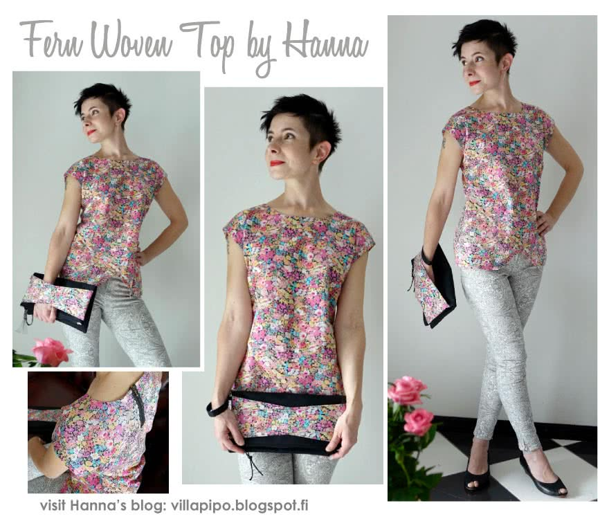 Fern Woven Top Sewing Pattern By Hanna And Style Arc - Great, slip-on asymmetrical woven top