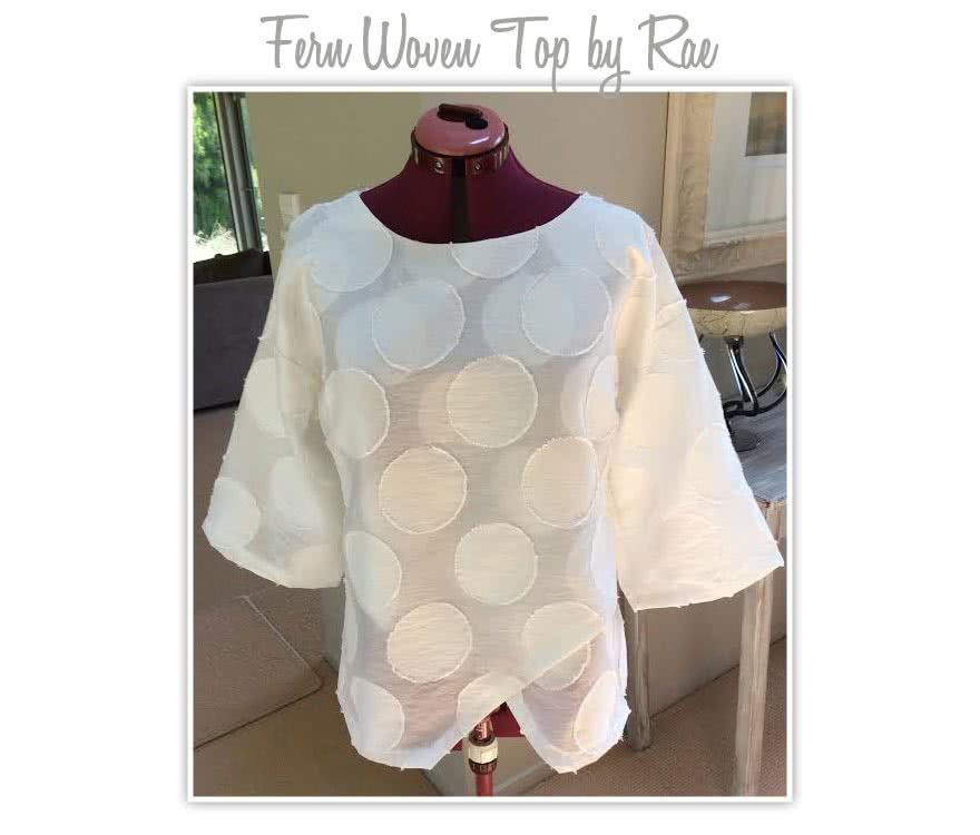 Fern Woven Top Sewing Pattern By Rae And Style Arc - Great, slip-on asymmetrical woven top