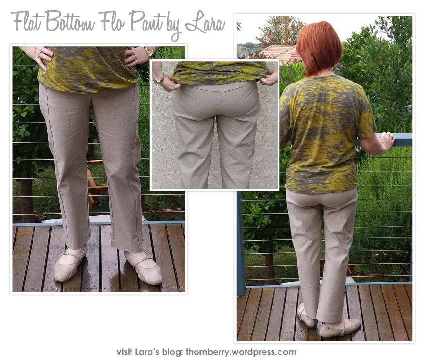 """Flat Bottom Flo Pant Sewing Pattern By Lara And Style Arc - This is a pull on pant especially drafted for a """"flat bottom"""""""