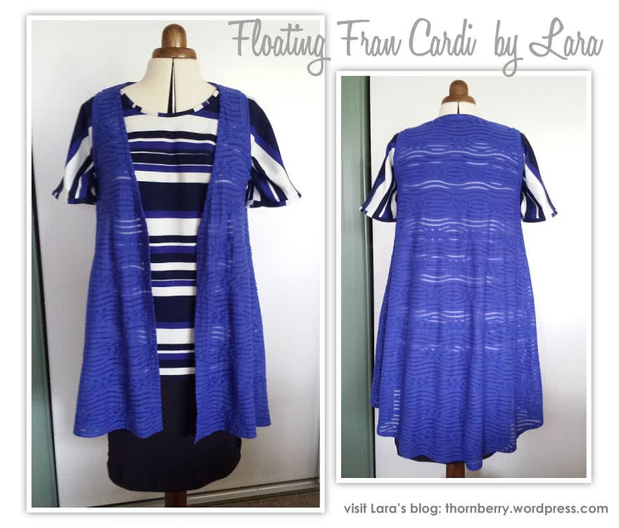 Floating Fran Cardi Sewing Pattern By Lara And Style Arc - Great versatile floating cardi