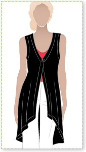 Floating Fran Cardi Sewing Pattern By Style Arc - Great versatile floating cardi