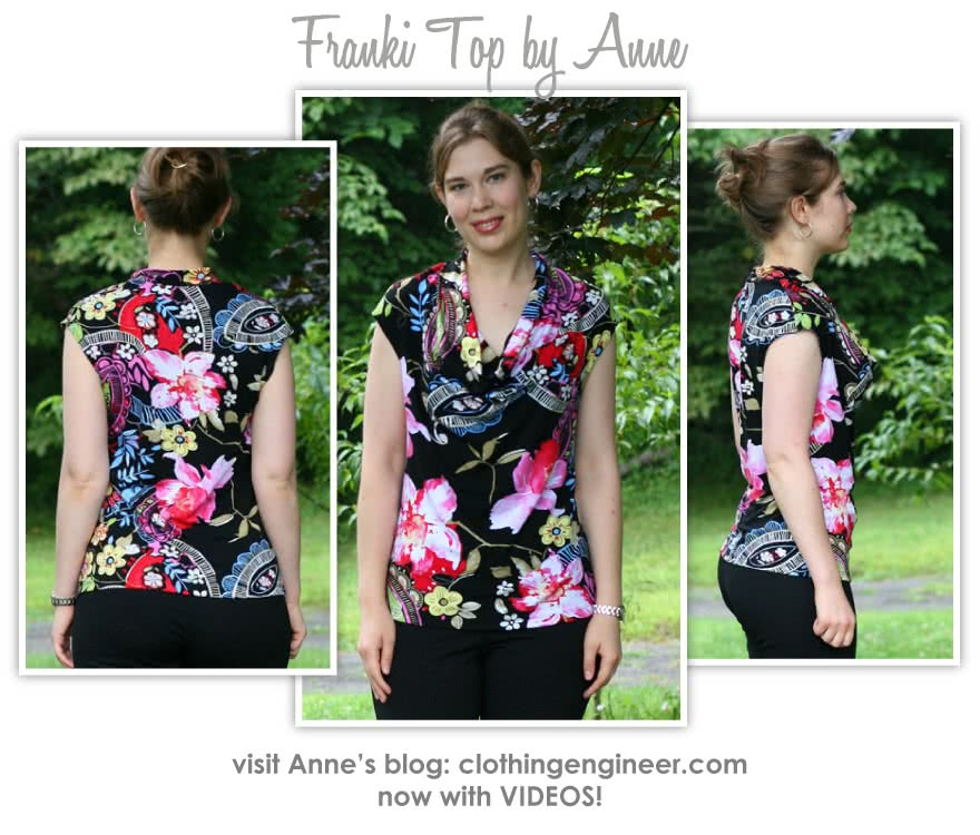 Franki Dress / Top Sewing Pattern By Anne And Style Arc - Cowl neck dress / top