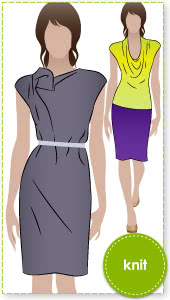 Franki Dress / Top Sewing Pattern By Style Arc - Cowl neck dress / top