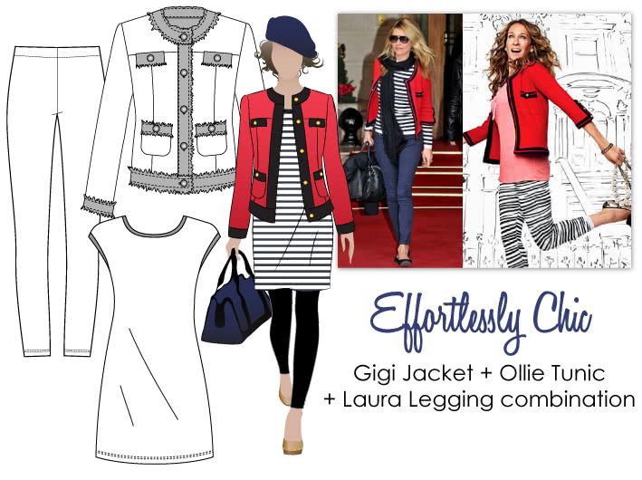 Effortlessly Chic Sewing Pattern Bundle By Style Arc - Gigi Jacket + Laura Legging + Ollie Tunic