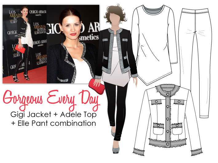 Gorgeous Every Day Sewing Pattern Bundle By Style Arc - Gigi Jacket + Adele Top + Elle Pant