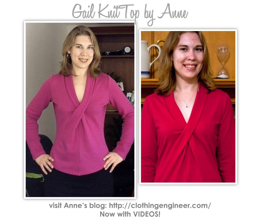 Gail Knit Top Sewing Pattern By Anne And Style Arc - Interesting scarf neck knit top