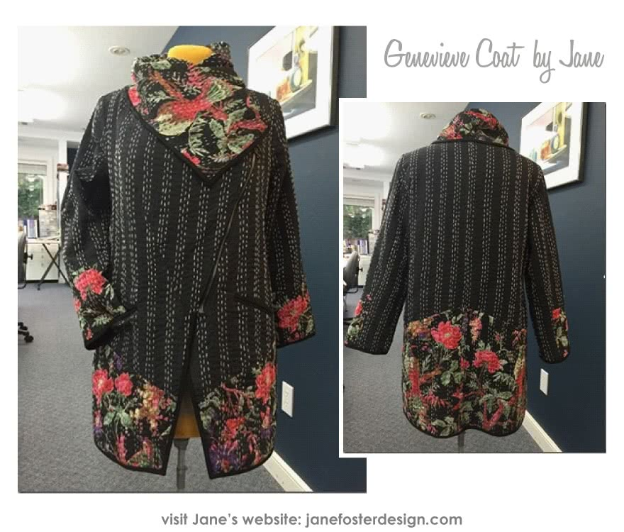 Genevieve Jacket / Coat Sewing Pattern By Jane And Style Arc - Designer jacket with fabulous collar & zip front