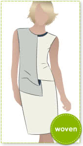 Gillian Drape Dress Sewing Pattern By Style Arc - Sophisticated draped front dress