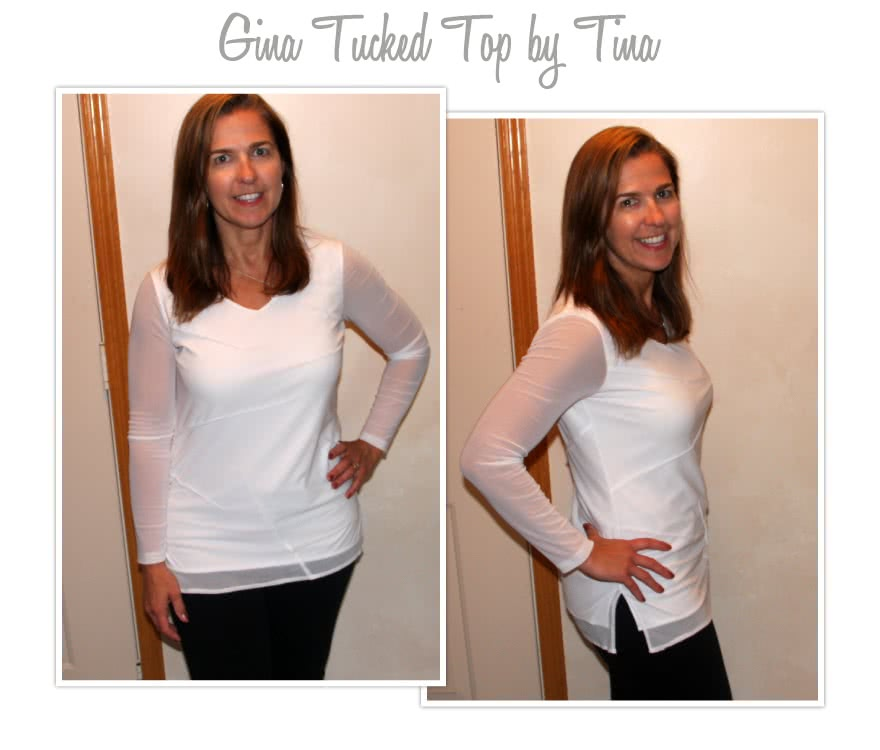Gina Tucked Top Sewing Pattern By Tina And Style Arc - Fabulous tucked body top with under layer