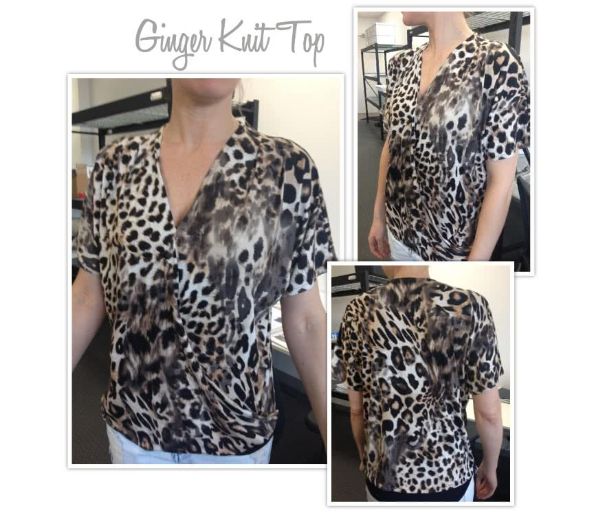 Ginger Top Sewing Pattern By Style Arc - Front drape crossover top with all in one sleeve